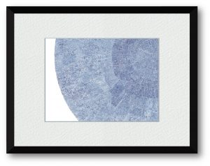 安藤光さん「無題20161125」(B5) 単純な丸モチーフでどこまで魅力ある構図にできるか模索した一枚です