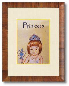 K.Iさん「Princess_K」(B5) 幼少期の少女の記憶を残したく作画しました。little_Aとの連作です。