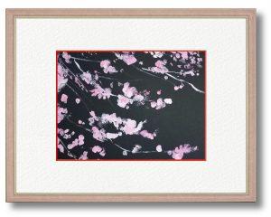 羽山奈保さん「新しい時代」(B5) 梅の花は可愛らしく地道な響きがあります。そして令和の花。この花のように強く現在の試練を乗りこえよう!