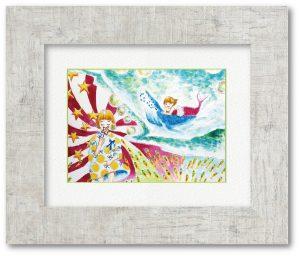 K.Iさん「少女の白昼夢」(F4) 始めての子供が産まれた時に作品として残したく作成しました。