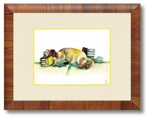 三好菜月さん「耽る」(B5)気を張らないで好きな事をする時間を大切にしたいという思いを込めて描きました。