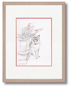クラウチ龍子さん「興味アリマス」(B5)動物のしぐさや行動は媚びがなく素直なのでこちらの心が和まされます。見る人が癒されるますように。