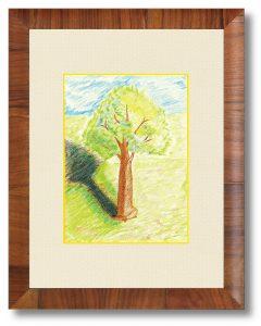 morioさん「樹木」(B5) 力強く生きる木
