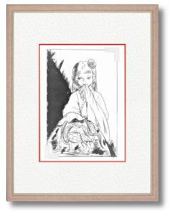 野田なおみさん「四神・玄武」(B5)以前より、四神をモチーフにした作品を描いてました。