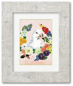 みやけまさよさん「希望」(F4) 「希望」「平和」「健康」など、ポジティブな気持ちになれる花言葉を持ったお花を描きました。