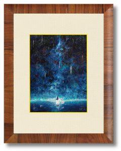 仲山拓人さん「流星テレグラフ」(B5)降りしきる星々の中に、君の声をさがす。もう遠くに行ってしまったのかしら。傘を持つ手はもう痺れて。