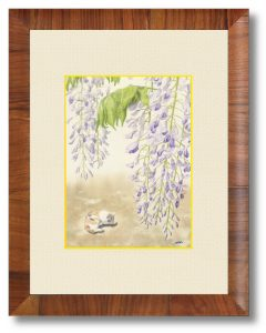 滝沢瀏さん「うたた寝の季節」(B5)方々で自粛が出されていても季節は刻々と移ろいます。来年は春を楽しめるよう願いを込めました。