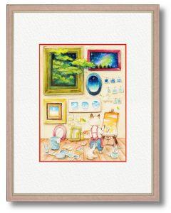 さくはさん「in the Room」(B5)部屋の中で空を感じられたらという思いで作中作を描きました