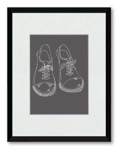 Maiさん「スニーカー」(B5)見る人が癒されるような絵を描きたいと思っています 今回はスニーカーをゆるく描きました