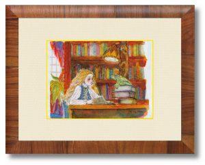 エンドロッコさん「かえるの王さま」(B5)「かえるの王さま」を題材にした挿絵です。三原色をベースに色数絞って描いてみました。