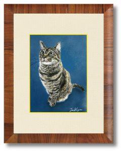 津久井卓也さん「温容」(B5)オリオンバロンケントのイラストレーションボードB5サイズ透明水彩・墨汁・エアブラシ猫です。