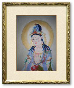小野蓮月さん「勢至菩薩」(F4)普遍的な救いの象徴である仏様の絵画で、癒しや安らぎを感じていただけたら幸いです。