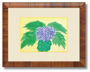 Y.Aさん「あじさい」(B5)紫陽花の咲く頃、気掛かりも一緒に雨とともに流れていってくれますように