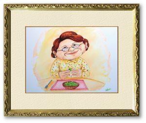 Kakuyoさん「エダマミィ」(F4)枝豆大好きなママ、エダマミィ。