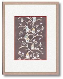 Luce-Lumeさん「コトリノエンドウ」(B5)スズメノエンドウ、カスマグサ、カラスノエンドウから着想し、空想上の植物を描きました。