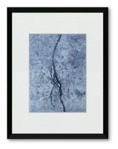 シロトキハナナさん「concrete」(B5)散歩をしながらふと足元を見て、どんな小さな隙間にも光は届くのだな、と思い面白味を感じて描くことにしま