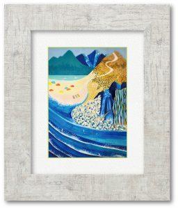 soarさん「asobu」(F4)山で遊ぶ海で遊ぶ自然で遊ぶ。そんな楽しみたい気持ちをぎゅっと絵に込めました。