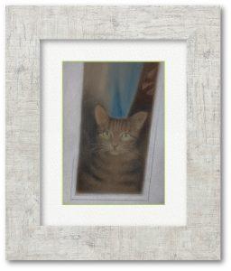 高木静江さん「STAY HOME」(F4)猫ちゃん、外に出ないで頑張っています。私たちも家に居ましょう!