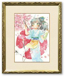 ishさん「爛漫」(F4)今年じっくり見れなかった桜と明るい日本をイメージしました