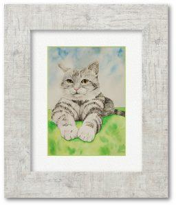 shumeiさん「早くみんなと遊びたいニャァ」(F4)猫にも友人にも会えない、外で遊べない日々ですが、いつかまた外で会いたい想いは猫も同じかもしれない。