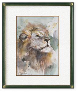 廣瀬能理子さん「ライオン」(F4)百獣の王の貫禄を描けたらいいなと思いました。