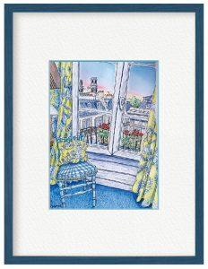 佐藤麻衣子さん「パリ、ホテルの窓から」(B5)いつかまた行かれる日が来ますように!