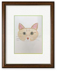 Y.Oさん「家族のルーナ」(B5)へたなりに家で飼っているネコを描きました。