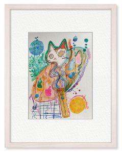 つきねこ りりさん「魔法道具」(B5)絵描きにとって画材は魔法道具だと思っています。思いや夢を形にする魔法道具たちが大好きです。