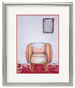のりひろさん「休息」(F4)たまには1人でのんびりソファに腰掛けたい気持ちで書きました。