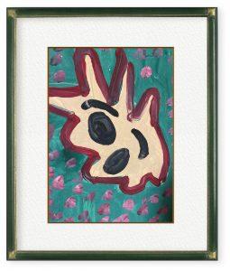 笹谷正博さん「プリンちゃん」(F4)水彩絵の具で絵を描きはじめた頃の作品です。自信作です。同じ絵は描けないです。
