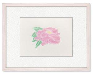 H.Sさん「花」(B5)祖母の部屋にあった、山茶花を描きました