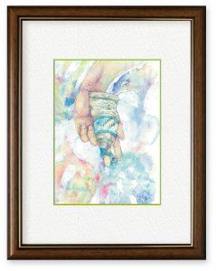 青目のアンさん「「私」を「描く」ということ」(B5)絵を描くことの意味について、現在の私なりの答えとして描きました。