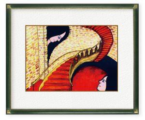 鈴木愛さん「生きてみないとわかんない」(F4)生きてみないとわからない事ばかりと歳を重ねてくなかで言えたらな。今日楽しもうという想いを描きました。