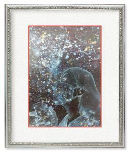 Kyoko Hannah Tさん「いつかきっと」(F4)スマホの画面越しではなく、本物の満天の星を、マスクをしないで観る日が、またいつかきっとくると信じて。