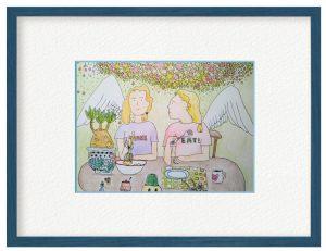 SUGAKOさん「隣の天使」(B5)何気ない見慣れた日常の中に天使が紛れ込んでいたら素敵だなと思い描き溜めているうちの一枚です。