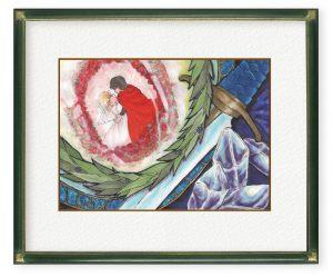 西洋子さん「英雄譚」(B5)コピックで色のグラデーションを、英雄譚のイメージで仕上げました。