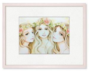 HANAさん「楽園」(B5)女神が微笑む楽園のイメージで作成しました。
