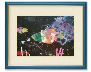 kura-kichiさん「遊んでいる魚たち」(F4)深海魚が好きだから