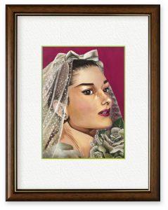 村嶋玲奈さん「恋慕」(B5)結婚した姉の新居に飾る絵として描きました