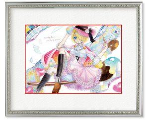 0gulusさん「Muse」(F4)絵の力で人々を幸せにしている女の子です。描く「楽しさ」をキャンバス内に表現しました。