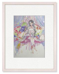 clartéさん「彩りの果実」(B5)生活の中に新たな彩りを産んでくれたらと思い、制作しました。小さな果実の女王様です。
