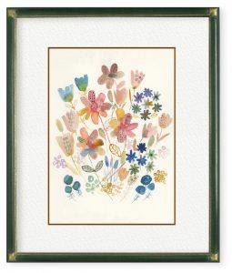 志保さん「花」(F4)変化の時代の中でも、みんなの心が休まる時間がありますようにと願って描きました