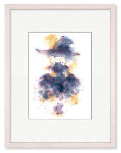 ulakoさん「星屑を纏う」(B5)星屑がこぼれ落ちる様なキラキラした衣装に憧れて描きました。