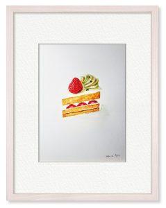沙千夜さん「赤と白の誘惑」(B5)明日から頑張る!…なぁんて。拙いですが、シンプルに描いてみたかったのです。