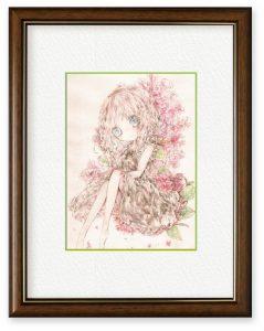 梅小花さん「百日後の約束」(B5)100日間花を咲かせる百日紅(サルスベリ)約束の日、鮮やかな紅色の花に想いをのせて