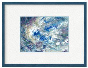 上雪湊さん「遠くにありて(帰れない夏)」(B5)標高が低い地域の空はとても遠くて、雲の動きは遥か天上で起こるダイナミックなドラマのようです。