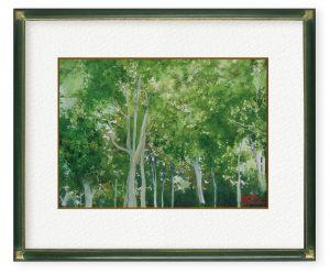 おゆみさん「緑のハーモニー」(F4)秋田県の緑を伝えたい。