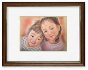 牧野瑠璃子さん「エンゼルたち」(B5)どんな時も笑顔は心をあたたかくしてくれます。