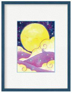 絢真さん「月と出会った日」(B5)満月を見上げた時の神秘的なイメージを表現しました。