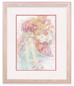 オカユウリさん「深界」(F4)花を感情に見立て、少女とリンクさせた。自分でもわからない深い所にある感情が溢れ出している。